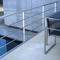 RVS hekwerk op balustrade