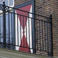 Balkonhekwerk met vierkante spijlen