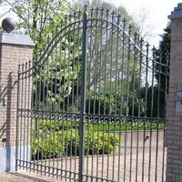 Klassieke poort met circels en krullen
