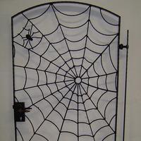 Wijnkelderpoort met spinneweb